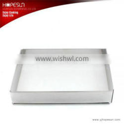 Popular stainless steel adjustable retractable square cake ring mould Supplier's Choice