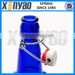 swing top cap with rubber for glass milk bottle