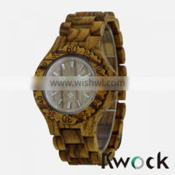 Nature Zebra wood mens watch wood made by it simple and modest