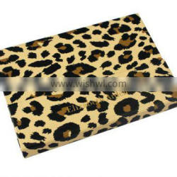 12 color leopard print cloth case for make up empty case
