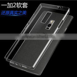 High quality Ultra-thin Transparent Clear Soft Tpu Case Back Cover For Oneplus Two