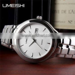 Silver color stainless steel band luxury China factory price quartz watches sport watch