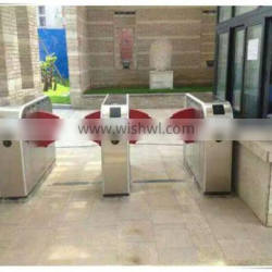 hospital.school security control pedestrian wing flap security turnstile