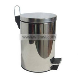 stainless steel pedal bin for 3L
