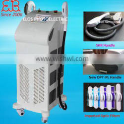New Vertical IPL SHR hair removal machine / ipl+shr/ ipl opt shr fast hair removal with two handles