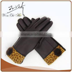 Double Finger Touch Sheepskin Leather Work Gloves