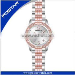 Good Quality Two Tone Plating Assurance Stainless Steel Wrist Watches