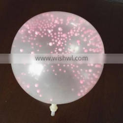 Transparent balloon with foam inside party balloon