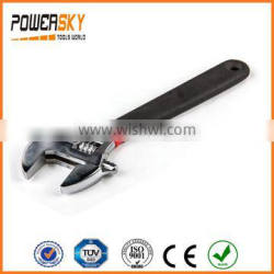 """6"""" 8"""" 10"""" 12"""" Ajustable Spanner Wrench With Double Color Dipped Handle"""