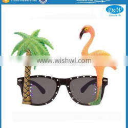 Funny Flamingo Coconut Tree Shape Party Sunglasses