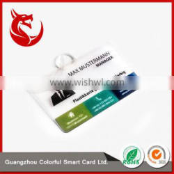 New style 0.76mm transparent inkjet pvc business card material