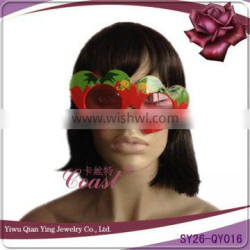 red color heart shaped kids fake party eye glasses