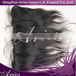 Unprocessed Brazilian Virgin - 13x4 Lace Frontal Natural Color -14""