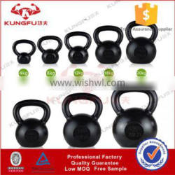 High quality crossfit training weightlifting Painted Cast Iron Kettlebell