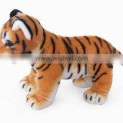 factory wholesale realistic plush toys standing brown tiger stuffed plush jungle animal toy super soft plush brown tiger