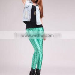 Hot Sale Sexy Tight Fashion Scales Printed Leggings