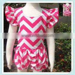 Baby Girls Romper beauitful chevron girls cute backless Romper Baby clothing