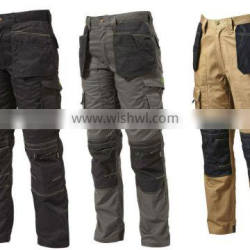 100% cotton work pants with knee pads for mens work pants black