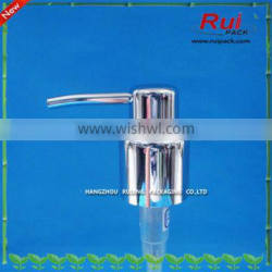 plastic UV silvery color lotion pump 28/410,24/410