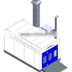 JF good spray booth middle price high effeciency offer clean cabin purified air health body painting room for sale
