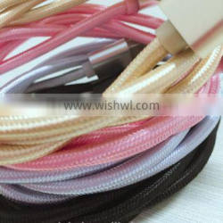 Nylon Braided Micro USB Cable Charge Data Cables retractable usb cable