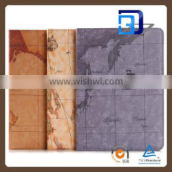 Ultra High Quality Beautiful World Map PU Leather Tablet case For iPad pro fast delivery