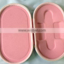 Special pink 1680D lady mirror protection eva case