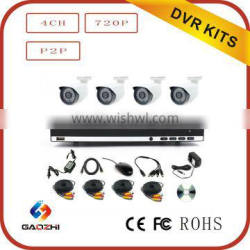 H.264 / MPEG4 2mp cctv dvr ir camera system made in china
