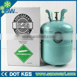 Basic Chemicals more than 99.9% 30lb r134a refrigerant gas , cool gas r134a