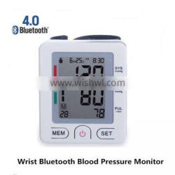 Bluetooth 4.0 wireless Digital Wrist watch Blood Pressure Monitor For Family Health Care tonometer wrist blood pressure monitor