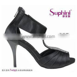 satin with crystal beads ladies tango dancing shoes from suphini