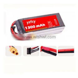 703562 11.1v 1300mah Round 25C lipo battery pack for RC quadcopter drone