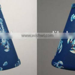 hot selling new design blue fabric lampshade with lovely cray for desk lamp decor