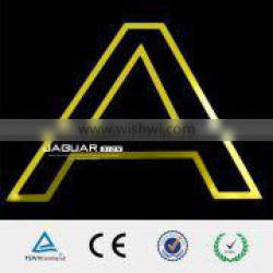 programmable acrylic chrome led yellow lighting letter sign