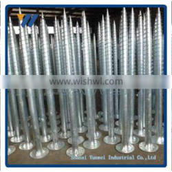Galvanized Earth Screw Anchors With Flange