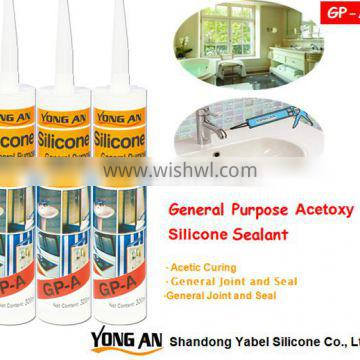 General Use acetic silicone sealant with fast curing and factory price
