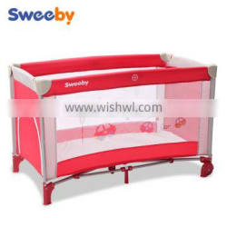 Classical Foldable Baby Playpen, Travel crib with Lovely Cartoon Pattern