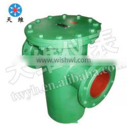 U strainer CS material with flange type