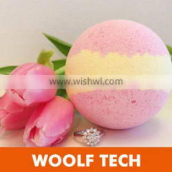 Wholesale Colorful Butter Bath Bombs Fizzer Rose with Dry Flower Bath Bomb