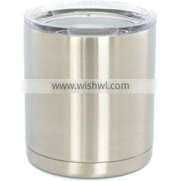 10 oz TANK - Stainless Steel Lowball - Vacuum Insulated Cup With Lid