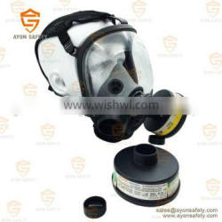 Spherical full face gas mask with single/double connector for military using-Ayonsafety