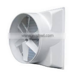 rugged fiberglass/pvc cone exhaust fan for greenhouse with long service life