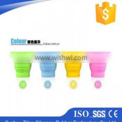 silicone folding cup/collapsible silicone cup