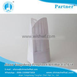 80g special white non woven round top cook cap disposable chef hat