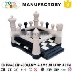 Large indoor inflatable chess bouncer castle white bouncy house