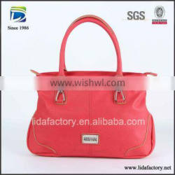 Customized durable ladies PU leather tote bag