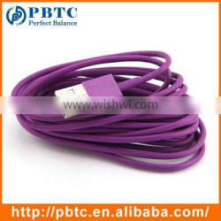 New Product 3 Meter Purple Data Sync USB Charging Cable