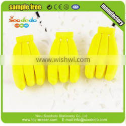 Novelty products manufacture fruit series banana shaped eraser