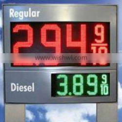 24 inches 8 inch led gas price sign digital display with ultra red color
