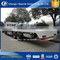 Dongfeng 8*4 30 ton carrier transport low flatbed truck